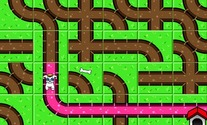 Labyrinth-game-with-a-dog