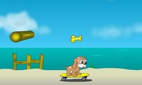 Skateboard-game-with-a-dog